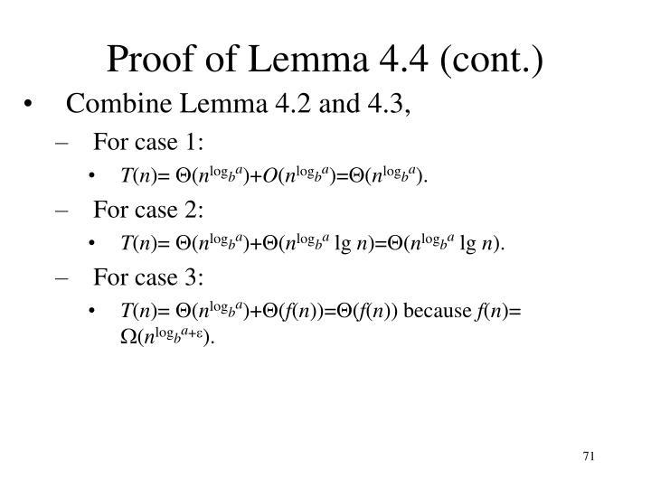 Proof of Lemma 4.4 (cont.)