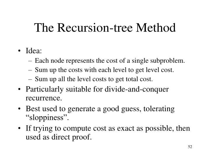 The Recursion-tree Method