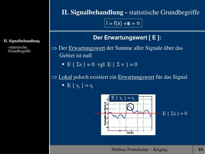 II. Signalbehandlung -