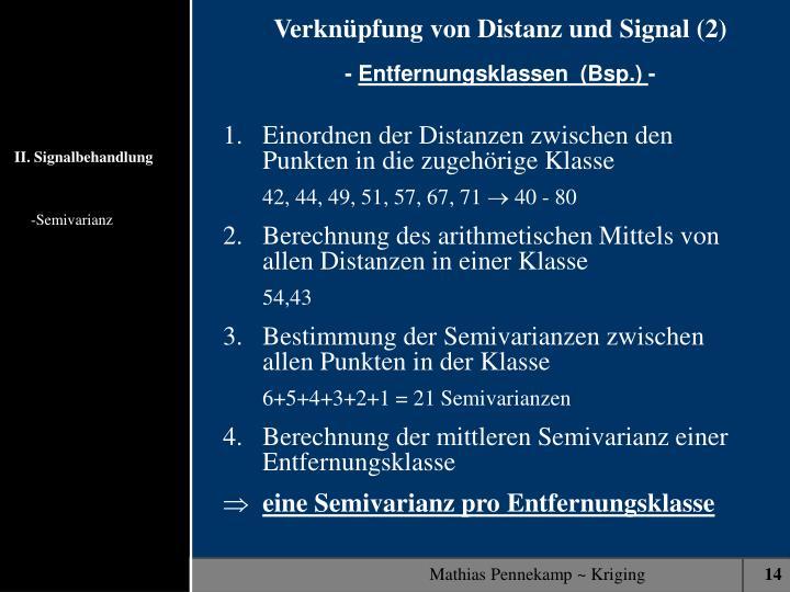 Verknüpfung von Distanz und Signal (2)