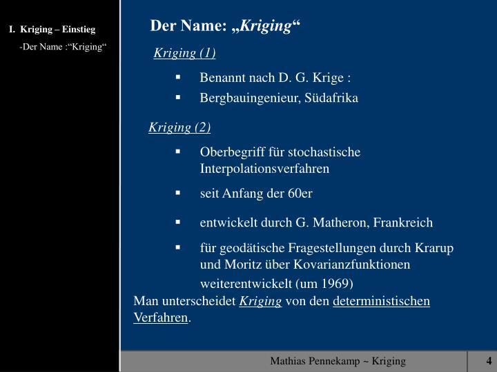 "Der Name: """