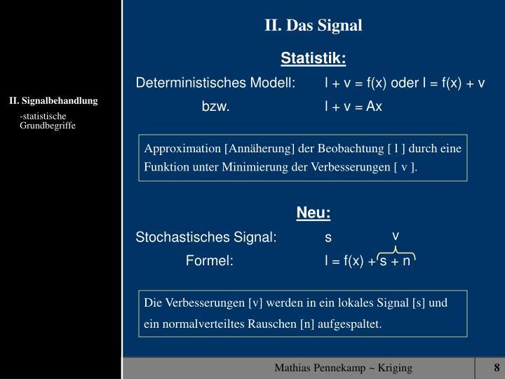 Approximation [Annäherung] der Beobachtung [ l ] durch eine