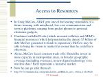 access to resources1