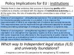 policy implications for eu institutions