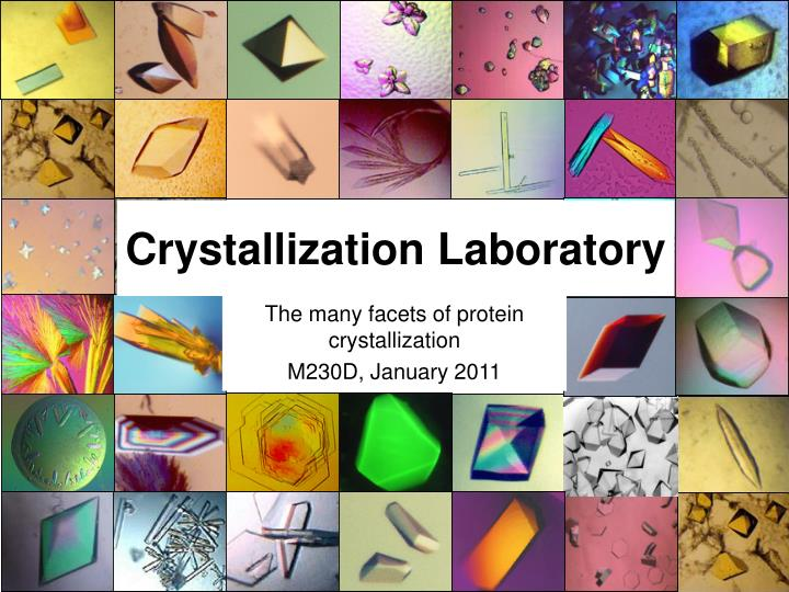 crystallization laboratory n.
