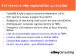 5 4 reasons why regionalism unravelled