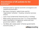 in coherence of uk policies for the economy
