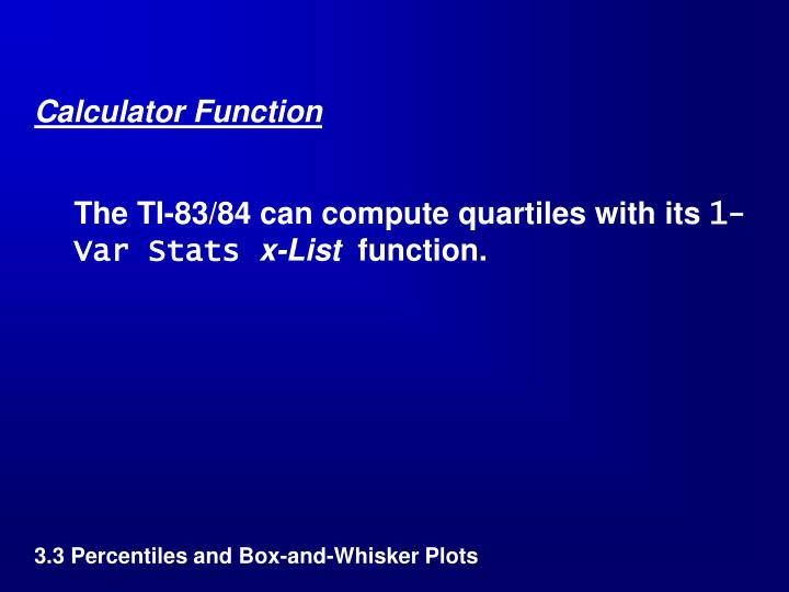 Calculator Function