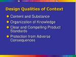 design qualities of context