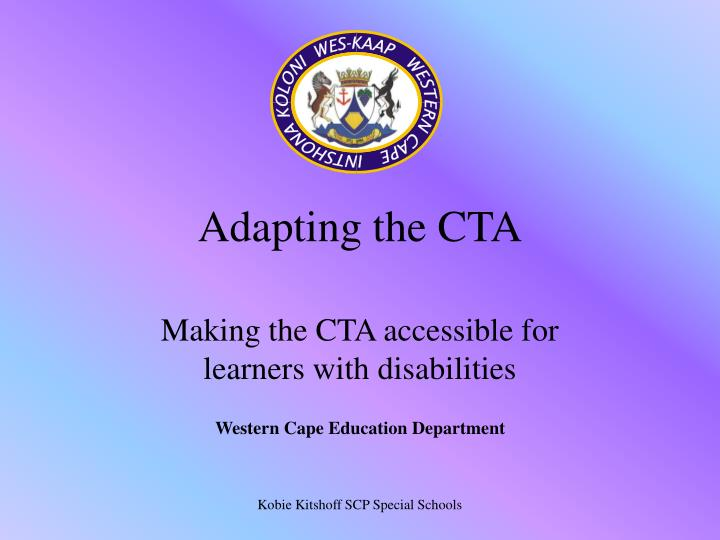 adapting the cta n.