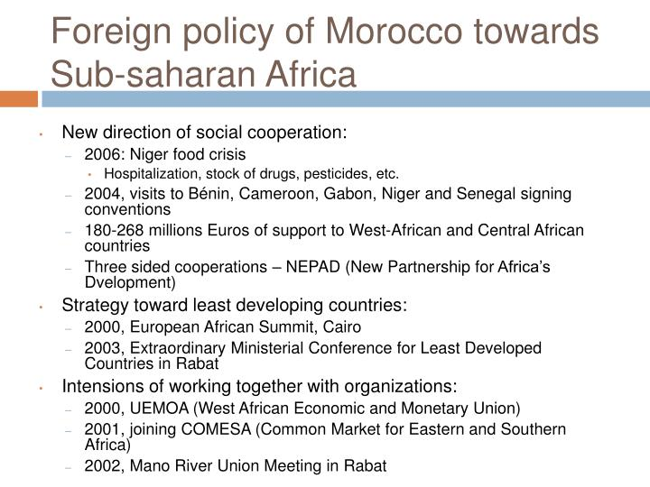 Foreign policy of Morocco towards Sub-saharan Africa