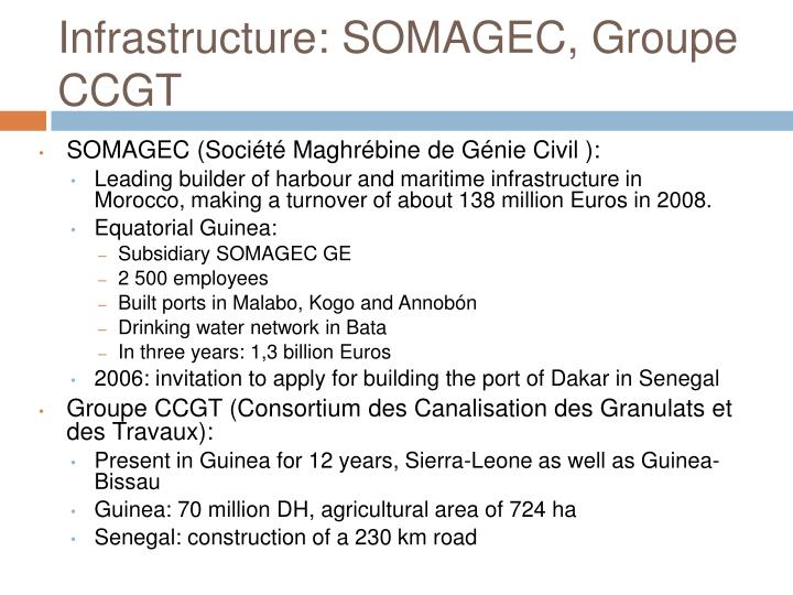 Infrastructure: SOMAGEC, Groupe CCGT
