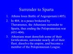surrender to sparta