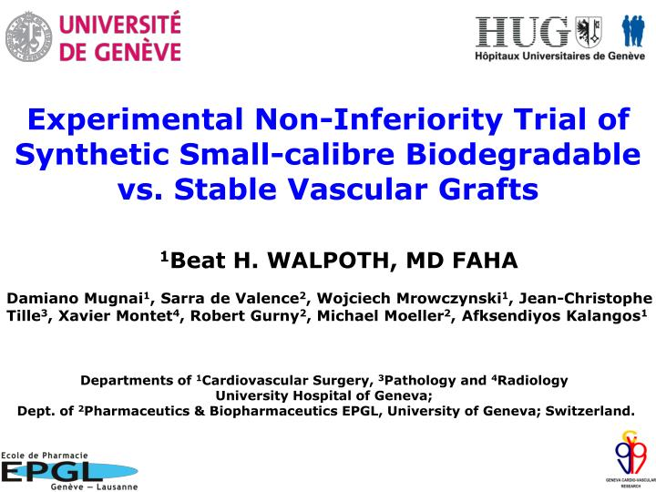 Experimental Non-Inferiority Trial of