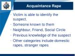acquaintance rape