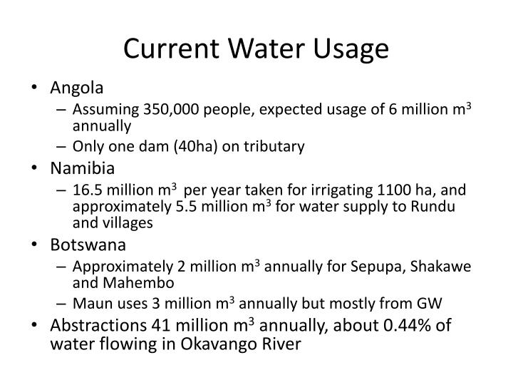 Current Water Usage