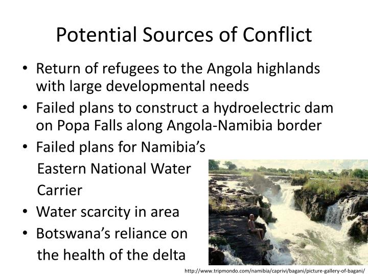 Potential Sources of Conflict