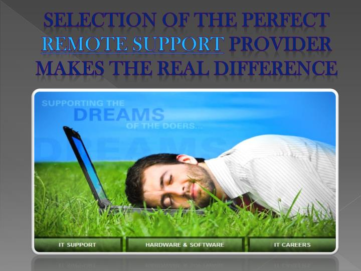 Selection of the perfect