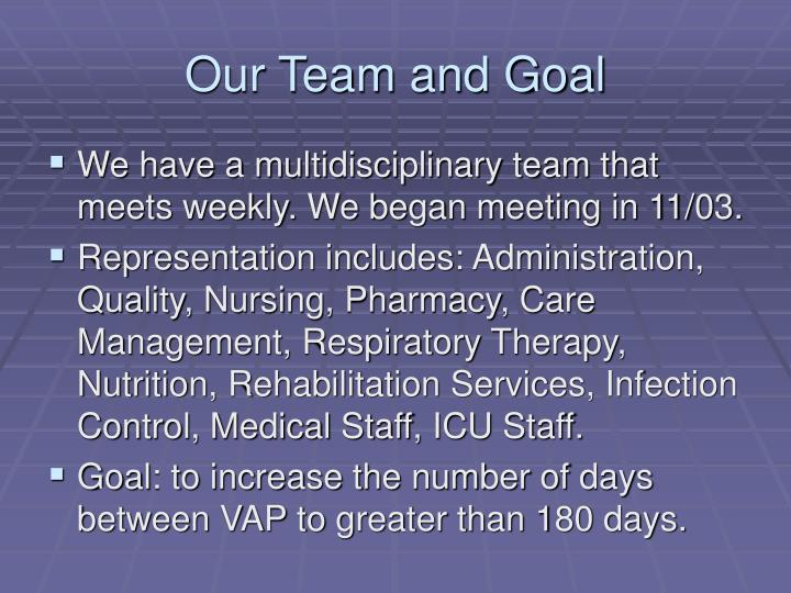 Our team and goal