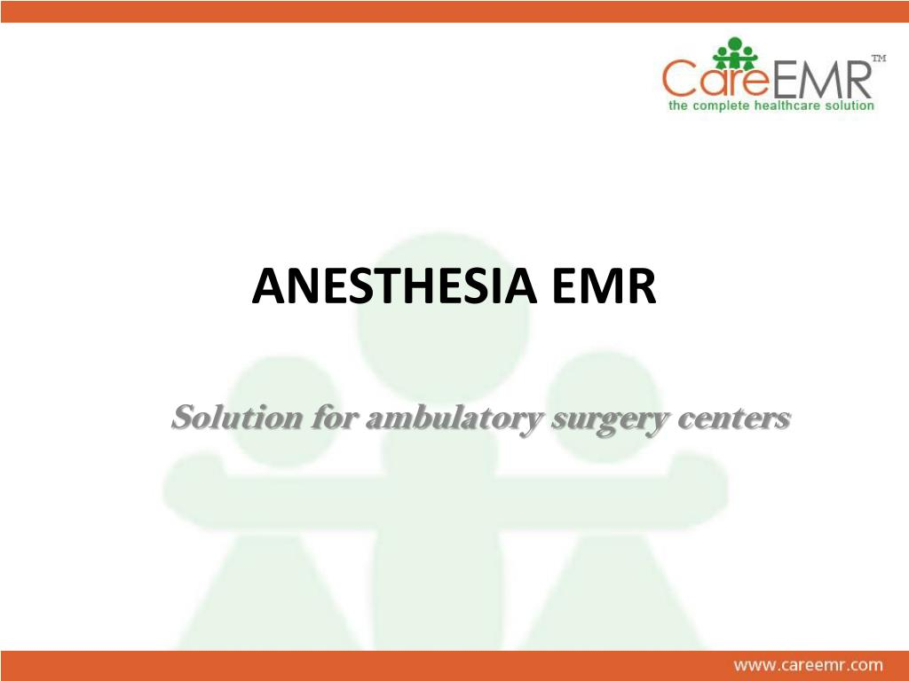 anesthesia emr l.