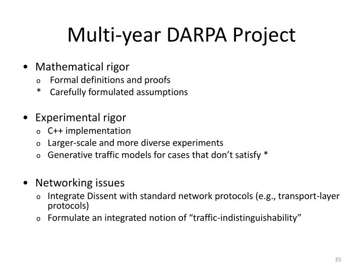 Multi-year DARPA Project