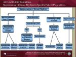 acc aha esc guidelines maintenance of sinus rhythm in specific patient populations