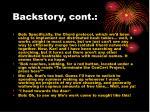 backstory cont