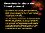 more details about the chord protocol