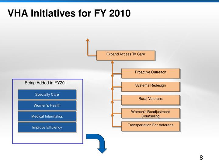 VHA Initiatives for FY 2010