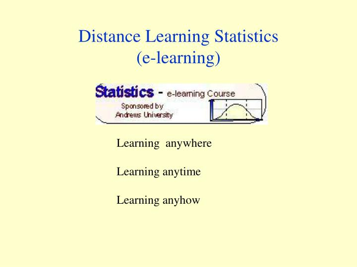 distance learning statistics e learning n.