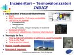 inceneritori termovalorizzatori indice