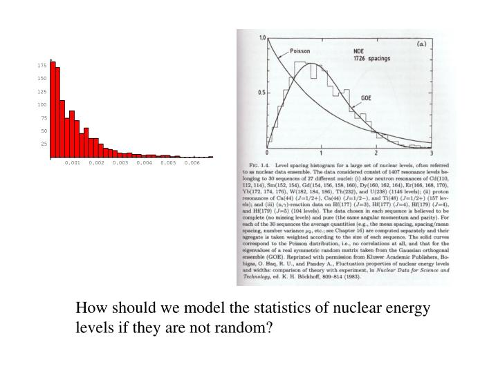 How should we model the statistics of nuclear energy