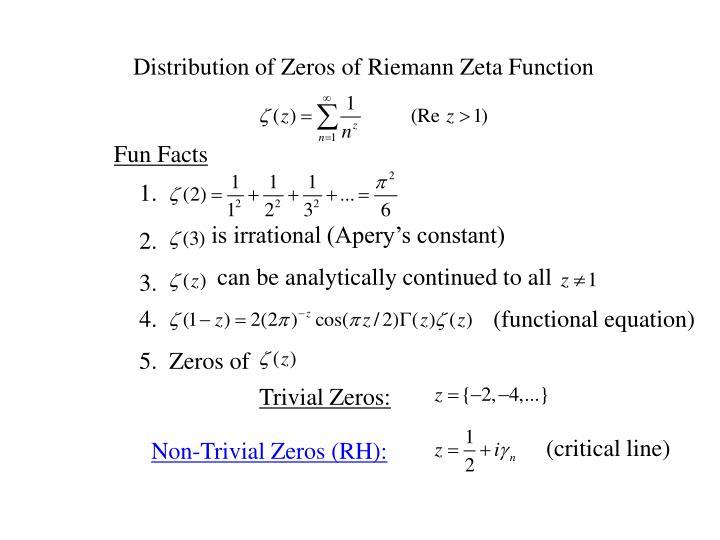 Distribution of Zeros of Riemann Zeta Function