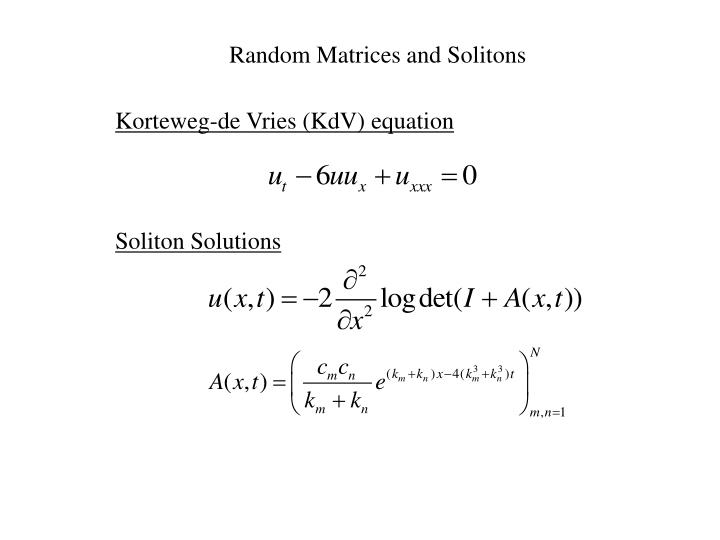 Random Matrices and Solitons