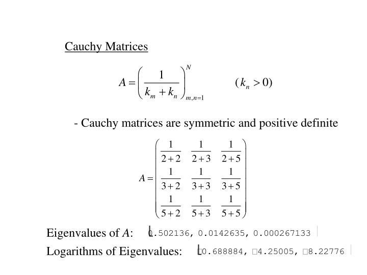 Cauchy Matrices