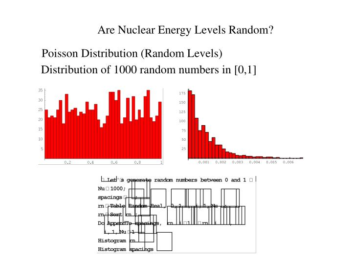 Are Nuclear Energy Levels Random?