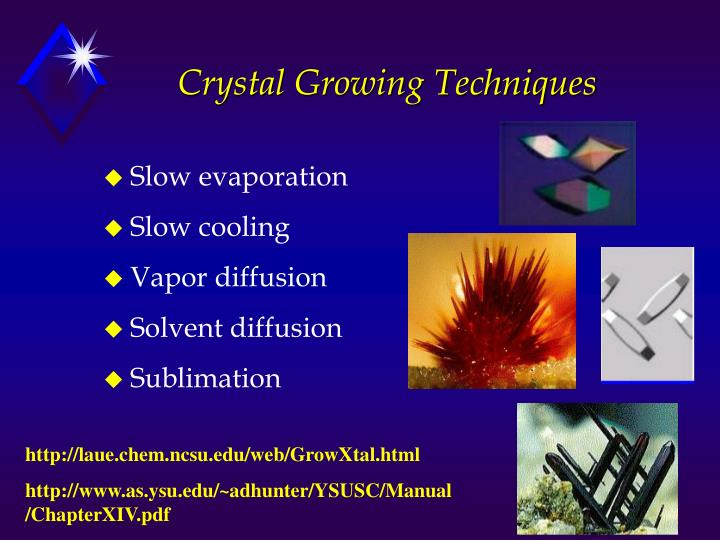 Crystal growing techniques