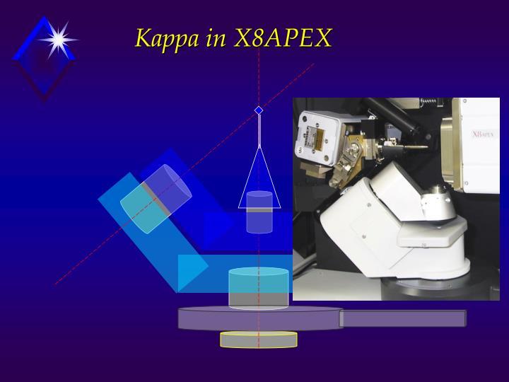 Kappa in X8APEX