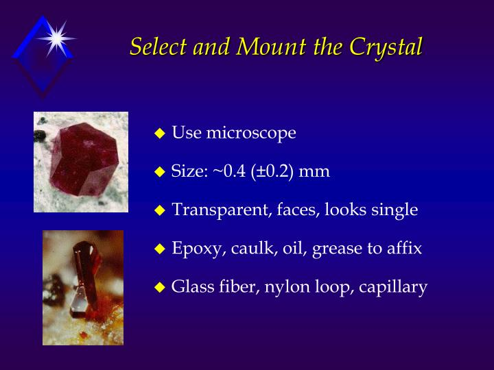 Select and Mount the Crystal