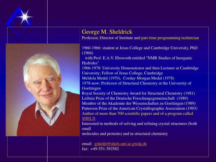 George M. Sheldrick
