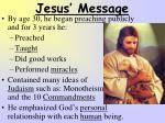 jesus message
