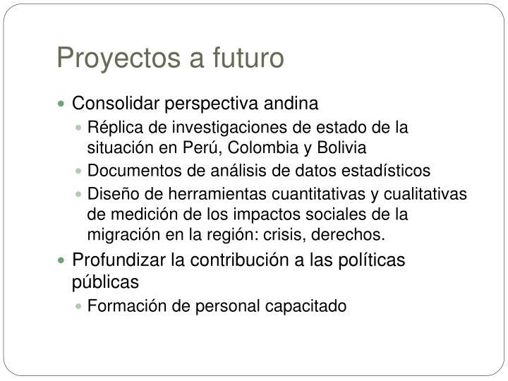 Proyectos a futuro