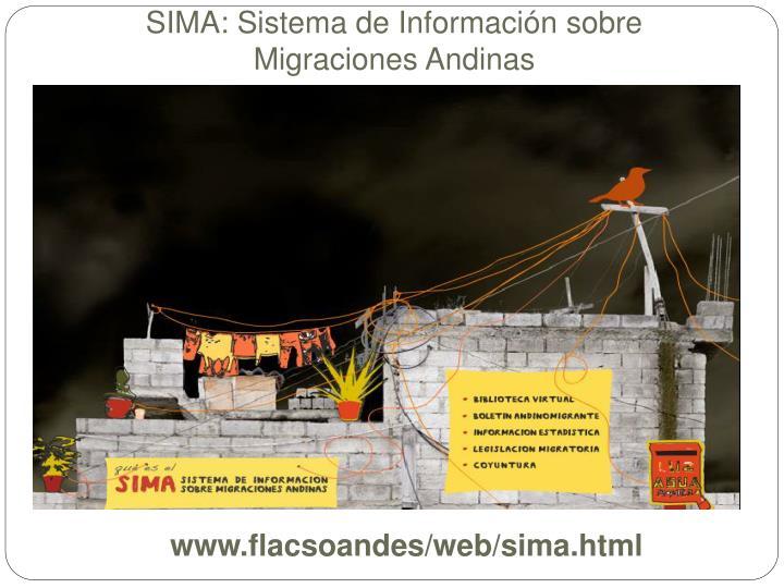 SIMA: Sistema de Información sobre Migraciones Andinas