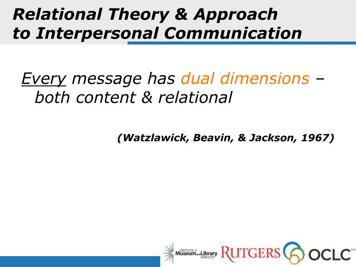 Relational Theory & Approach