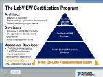 the labview certification program