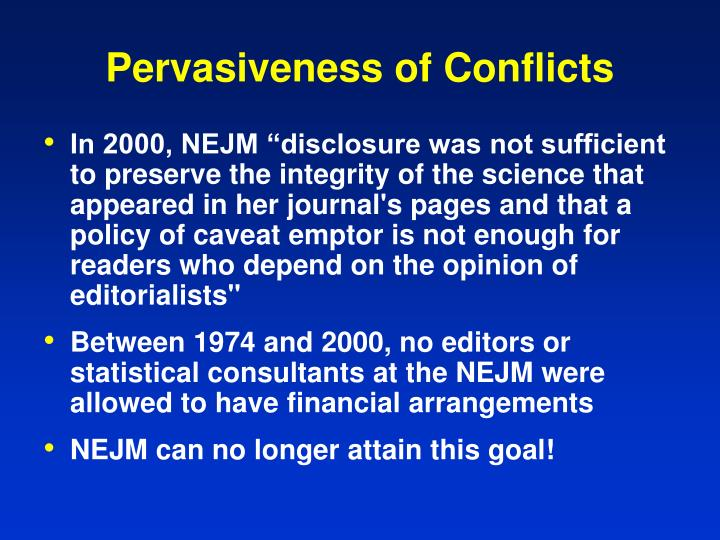 Pervasiveness of Conflicts