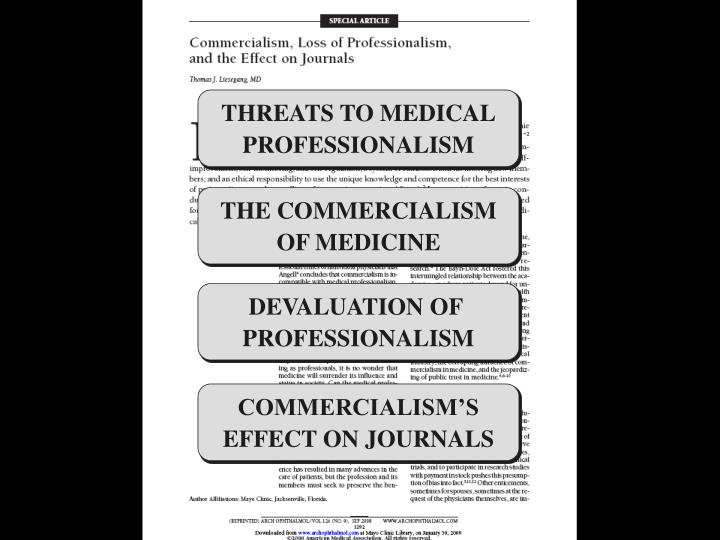 THREATS TO MEDICAL