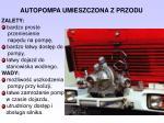 autopompa umieszczona z przodu