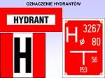 oznaczenie hydrant w