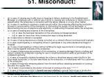 51 misconduct